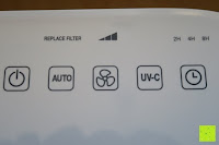 Tasten: Beurer LR 300 Luftreiniger mit HEPA Filter für 99,5% Filterleistung, ideal bei Heuschnupfen und zur Allergievorbeugung