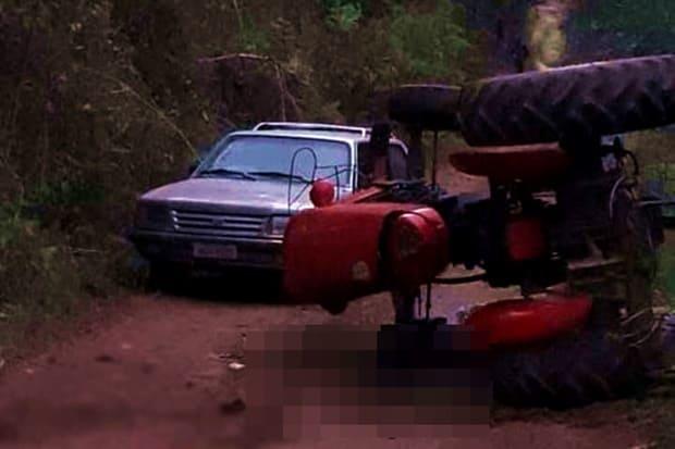 Agricultor morre esmagado por trator, no interior de Porto União