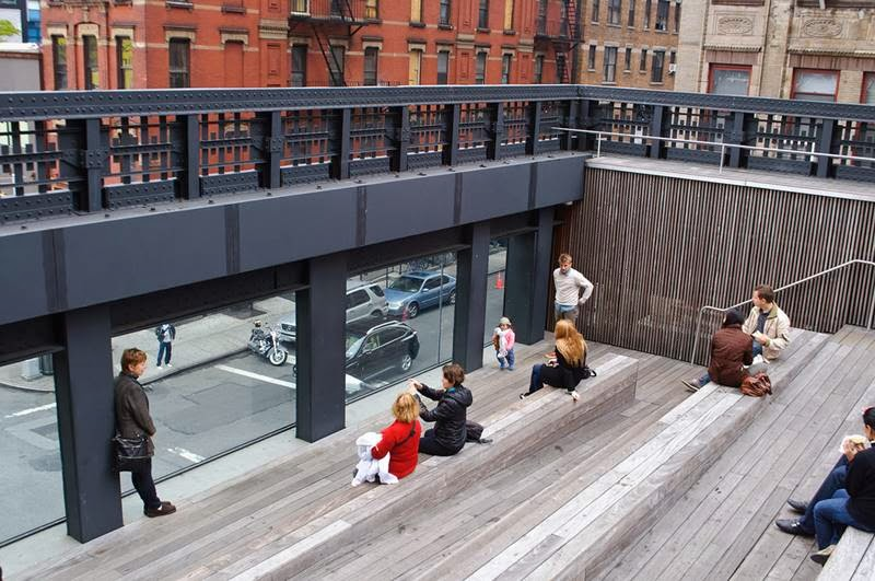 Stairs of High Line Park, New York