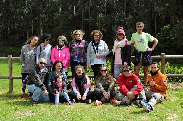 grupo da caminhada e meditação na Quinta do Pisão