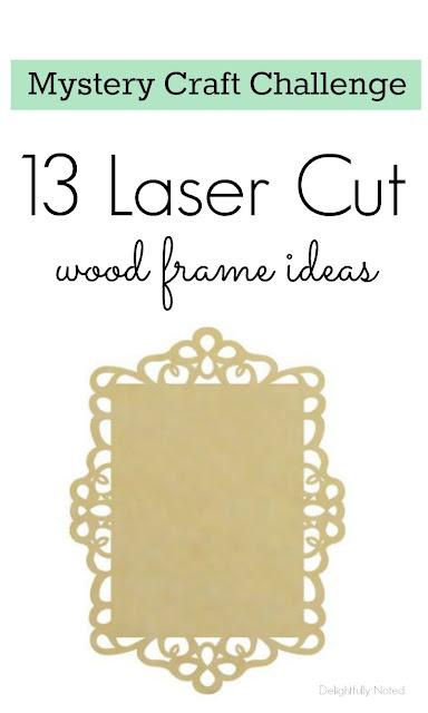laser cut wood frame