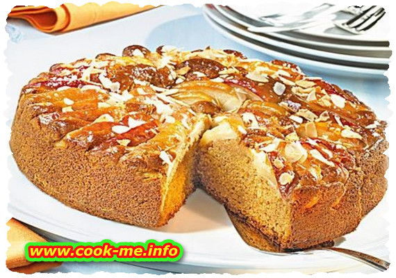 Apple and caramel pie