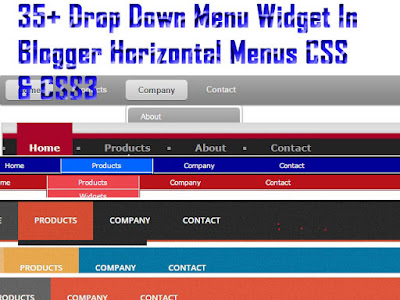 Horizontal Drop Down Menu Widget For Blogge