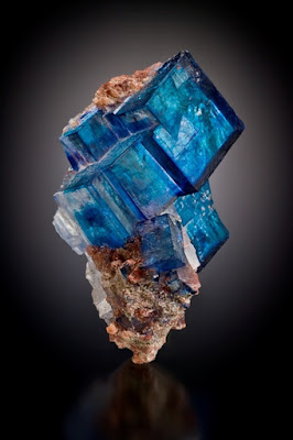 Cristales de Halita azul