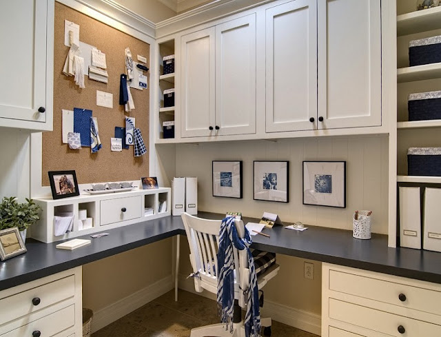 best built in desk ideas for home office with cabinets design