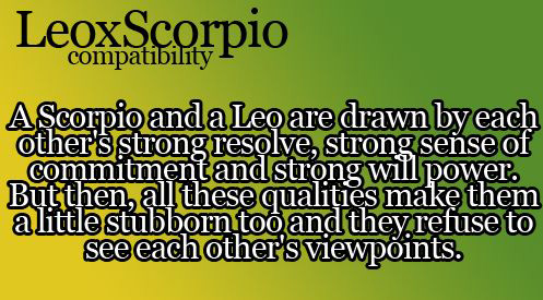 Are scorpios and leos good together