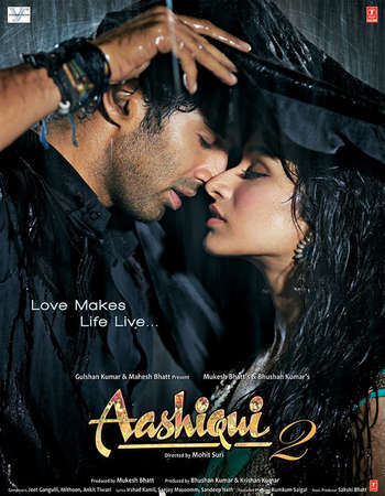 Poster Of Aashiqui 2 2013 Hindi 400MB BRRip 720p ESubs HEVC Watch Online Free Download Worldfree4u