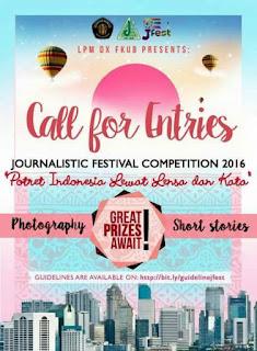 Lomba Cerpen J-Fest (Journalistic Festival) 2016