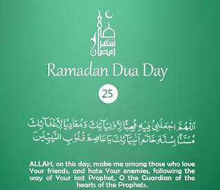 Instructions of Last Prophet [Daily Supplications for 30 Days of Ramadan] Dua Twenty-Fifth Day of Ramadan 2018 (Ramzan 2018)=Instructions of Seal of Prophets