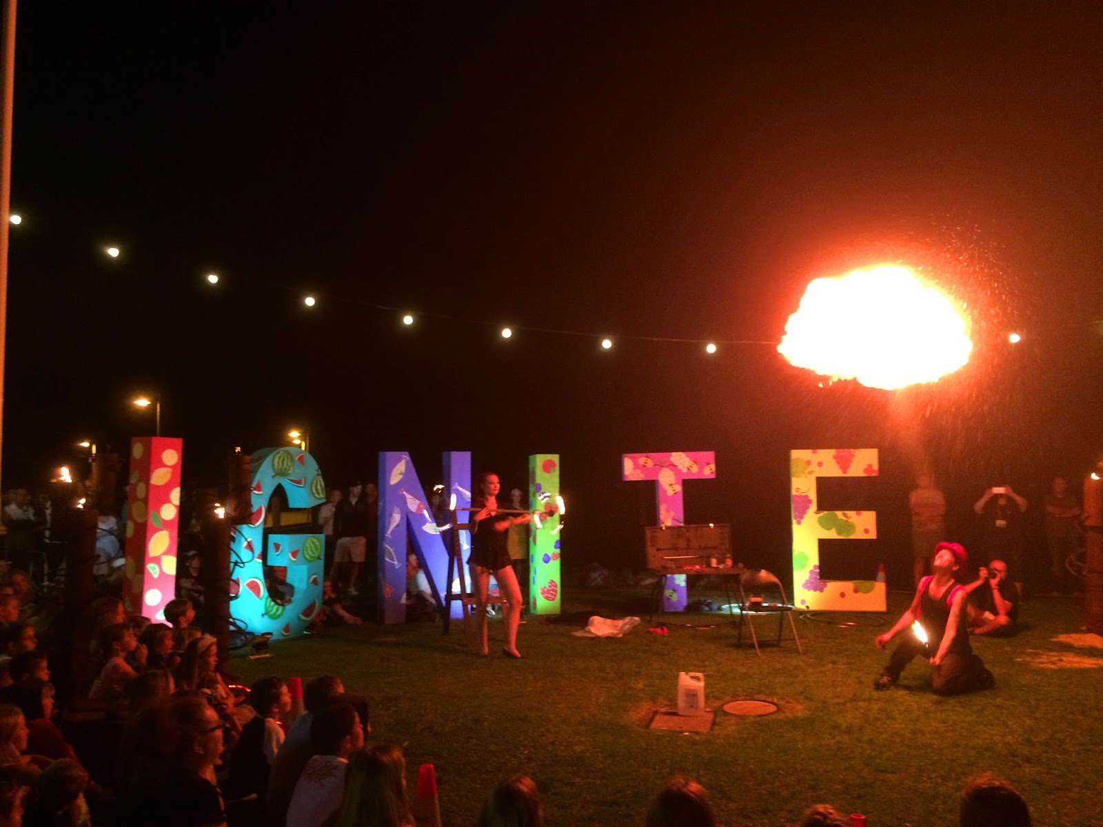 Port Macquarie Tastings on Hastings Ignite Fire Twirling