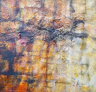 "Mixed Media, Contemporary Landscape ""Eagle's Flight"" by Contemporary Artist Gerri Calpin"