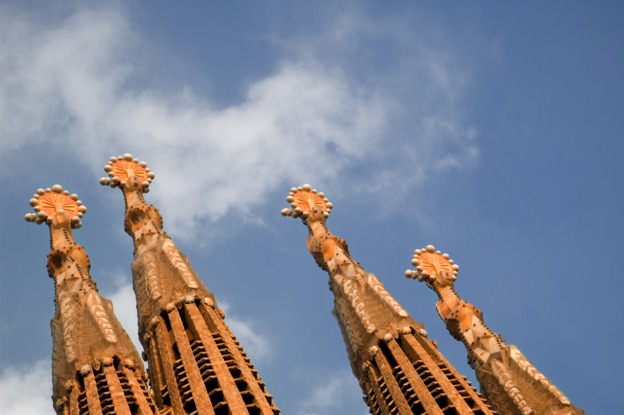 Remodeled Spires in Sagrada Familia