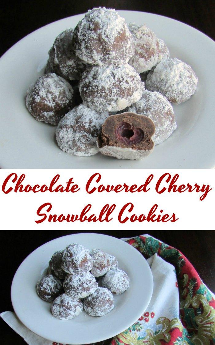 Chocolate Covered Cherry Snowballs