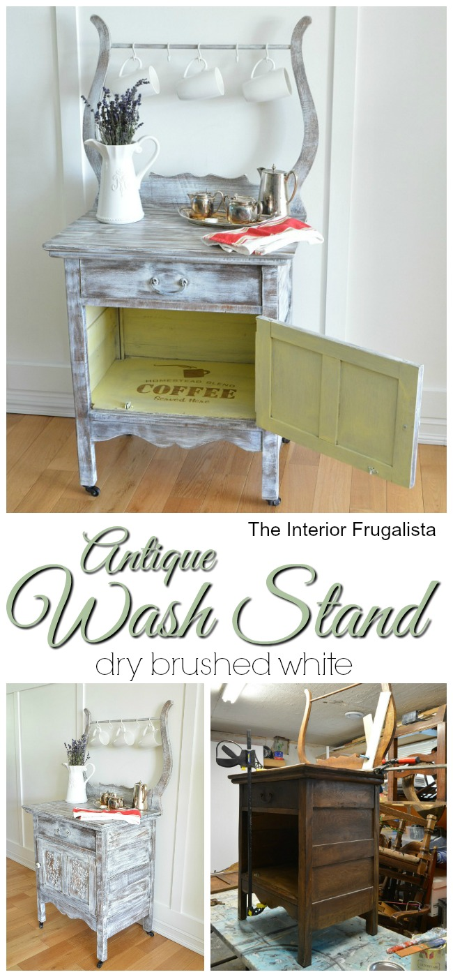 Antique Wash Stand Before and After