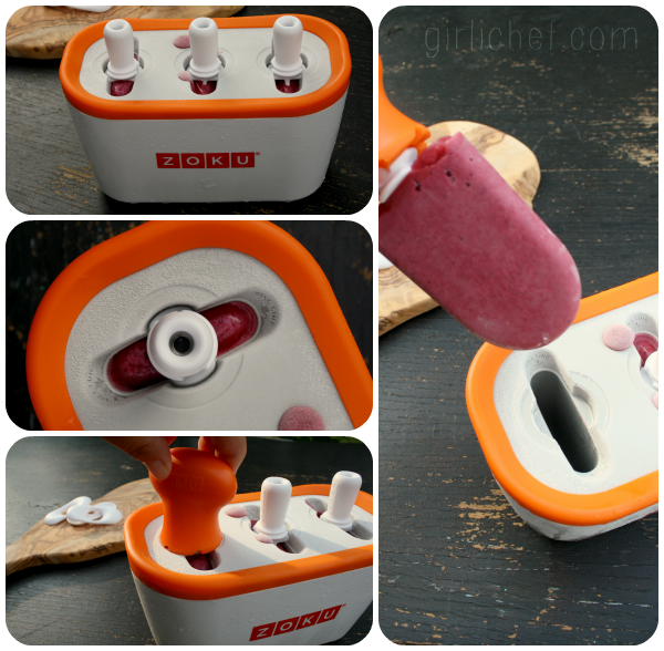 Fruit 'n Buttermilk Ice Pops + a ZOKU Quick Pop Maker Giveaway {#SummerOfThePopsicle} | www.girlichef.com