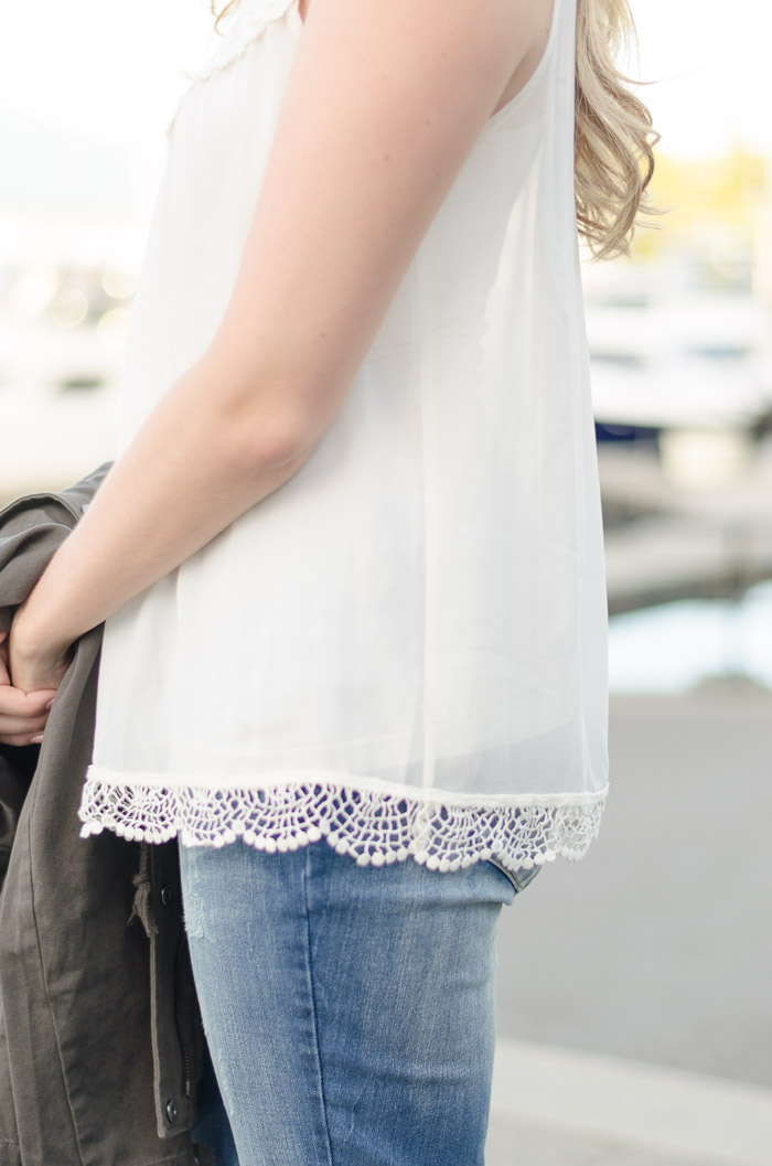 How to Style a Sheer Chiffon Blouse