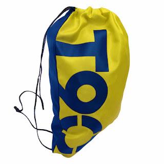 Sports Drawstring Bag Oxford Polyester Yellow