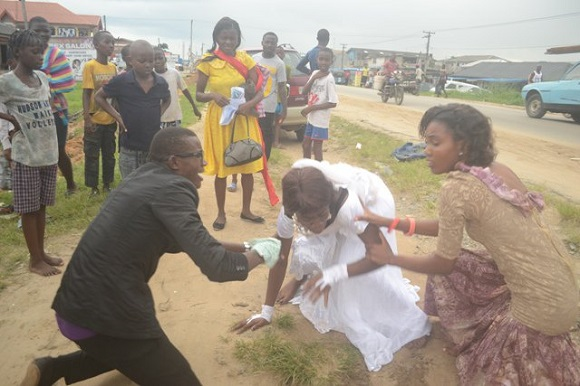 newly married bride runs out of wedding reception delta state