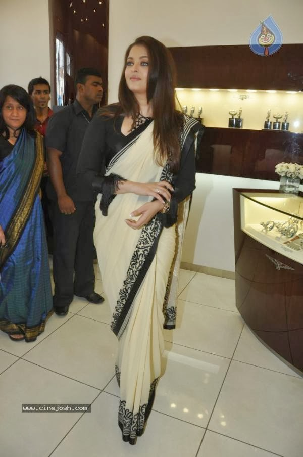Bollywood white saree