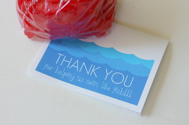 Swim Teacher Thank You Gift