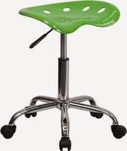 Flash Furniture Lime Green Stool