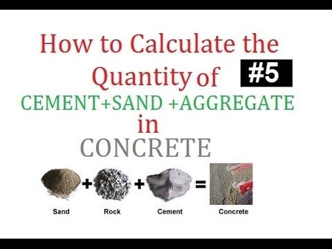 How to calculate the quantity of cement sand and aggregate in concrete