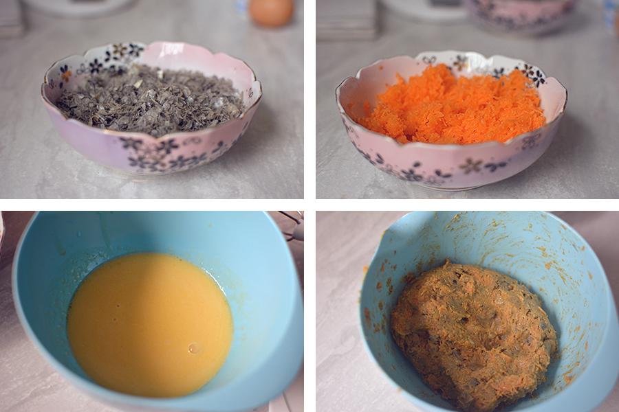 Rezept: Lachshaut-Karotten Gugelhupf für Hunde Hundekuchen backen