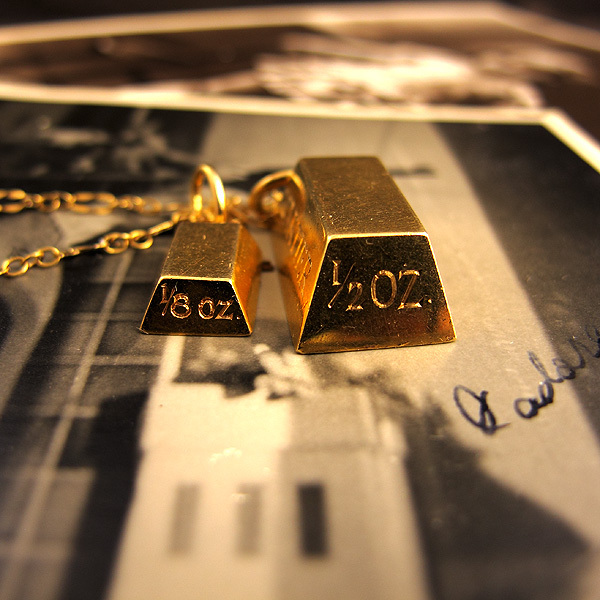 Completely new Desired: Cartier Vintage 18K Gold Bullion Bars Pendant Necklace  ZS65