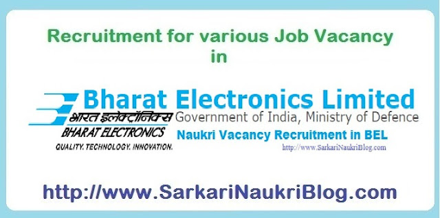 Naukri Vacancy Recruitment in BEL
