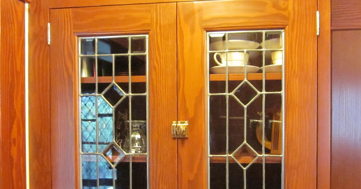 Laurelhurst Craftsman Bungalow Leaded Glass Panels Cemented