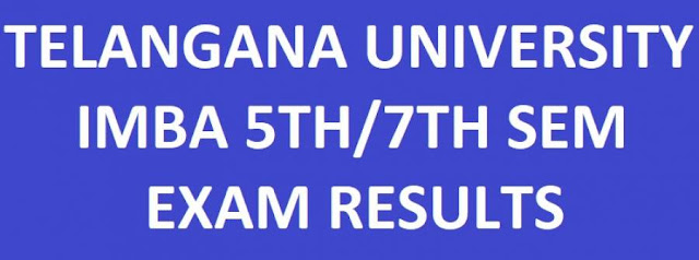 Telangana University IMBA 5th/7th Sem Results