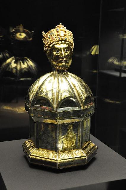 relikwiarz św. Oswalda ze skarbca katedry w Hildesheim