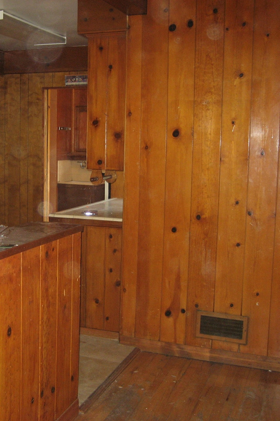 Paint Over Wood Paneling Walls: Hiding From The Laundry: Painting The Knotty Pine