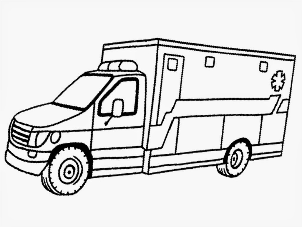 realistic ambulance coloring pages realisti