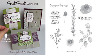 Stampin' Up! First Frost Card Kit for September 2018 Stamp of the Month Club by Julie Davison www.juliedavison.com/clubs