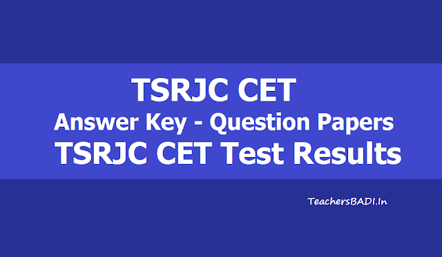 TSRJC CET 2019 Results, TSRJC Results 2019, Key-Question Papers