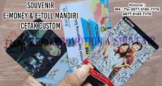 Souvenir E-Money & E-Toll Mandiri Cetak Custom, Souvenir E-Toll Promosi, E-toll Custom Print Design Suka Suka