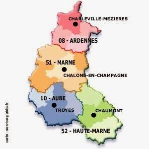 Carte Champagne Ardenne | Carte France Département Région