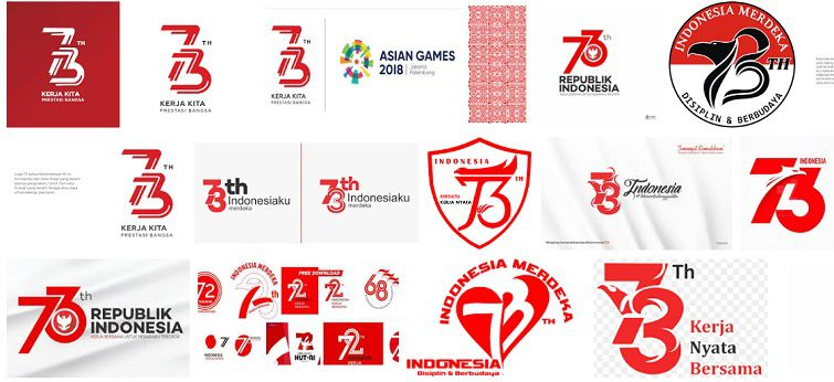 Logo Resmi HUT RI Photoshop dan CorelDraw Logo Resmi HUT RI ke 73 (PhotoShop PSD dan CorelDraw CDR)
