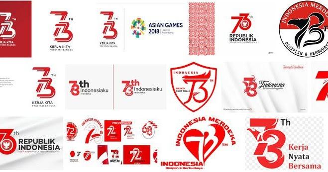 Logo Resmi HUT RI ke 73 PhotoShop PSD dan CorelDraw CDR