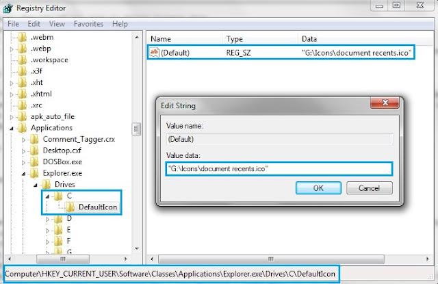 Drive DefaultIcon Value Data Registry
