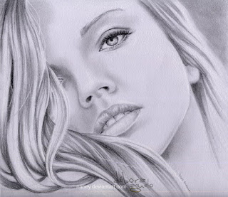 dibujo cara de mujer lapiz