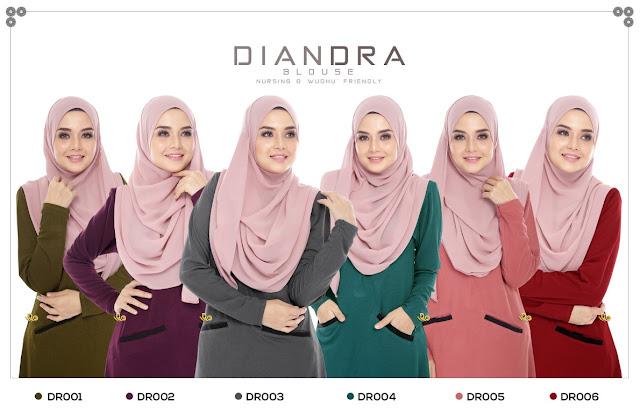blouse ke pejabat diandra