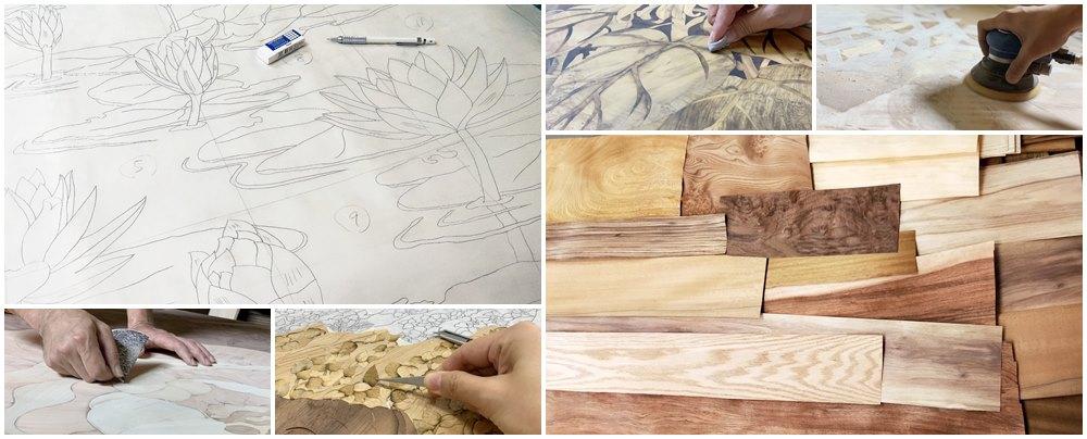 木箔®原創藝術品的程序非常繁複過程