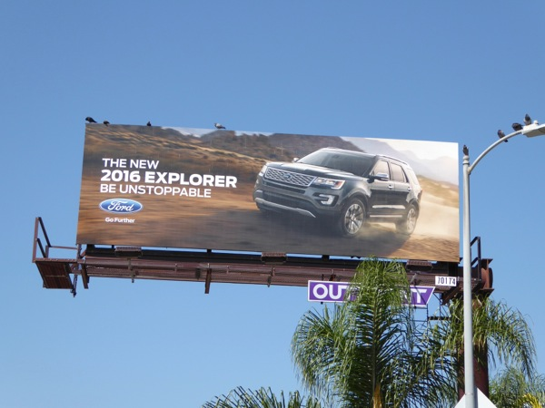 Ford 2016 Explorer billboard