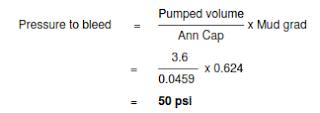 volumetric method - lubrication -Bleed off pressure