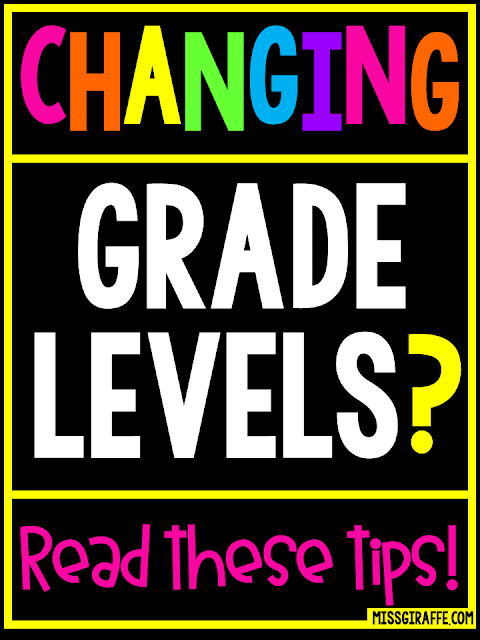 Changing grade levels tips for teachers to make switching grades an easy and fun transition!