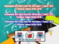 Download Kisi-Kisi Soal PH/ UH Kelas 1 Tema 1 K13 Terbaru Tahun 2018/2019