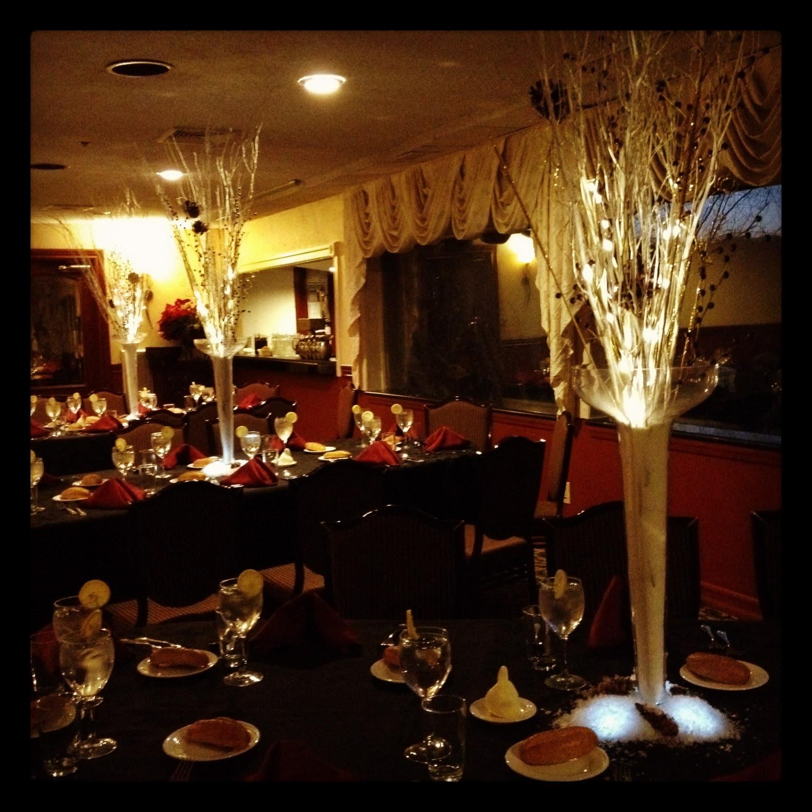 Burgundy And Gold Wedding Decorations: Centerpieces Sans Flowers