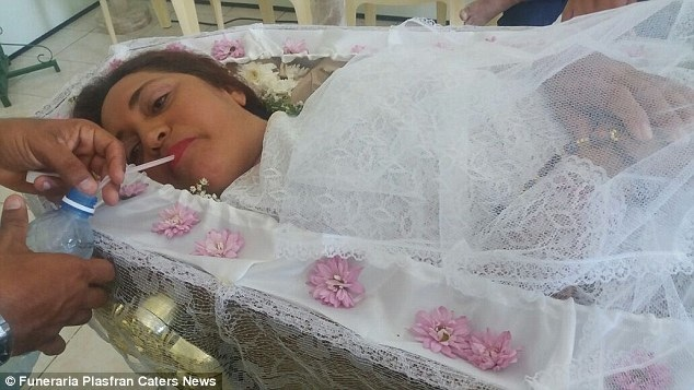 PHOTOS: Brazilian Woman Holds Her Own Funeral While Alive